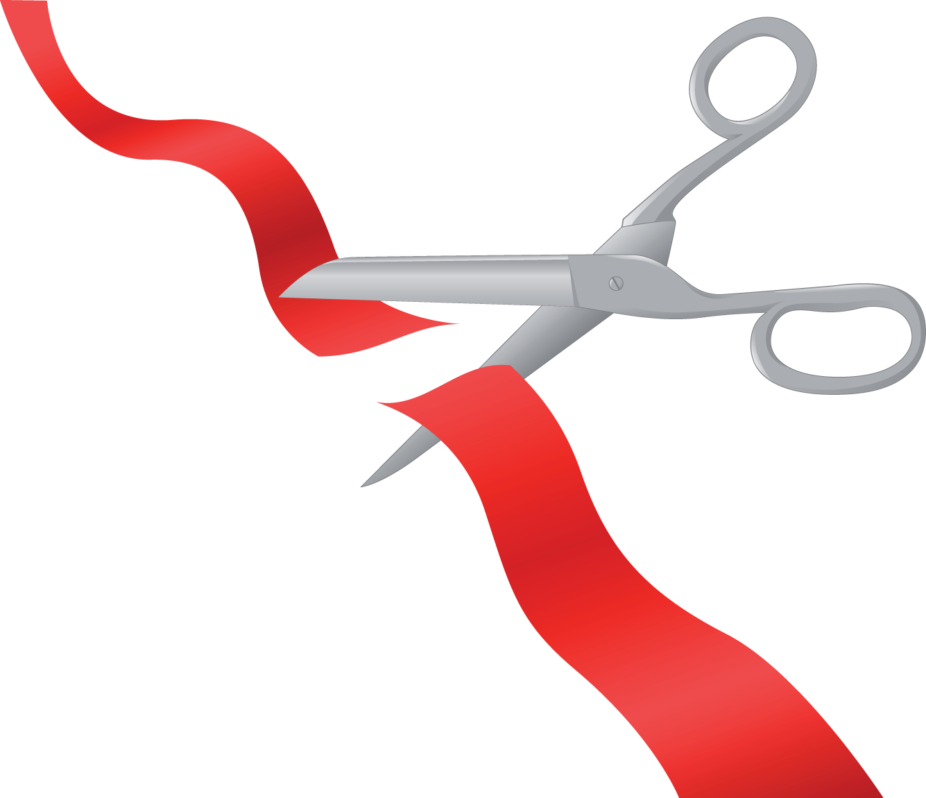 Ribbon Cutting Vector