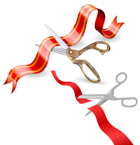 557x579 2 Ribbon Cutting Vector Graphic Graphic Hive