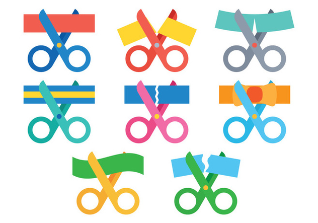 632x443 Ribbon Cutting Vector Free Vector Download 388313 Cannypic