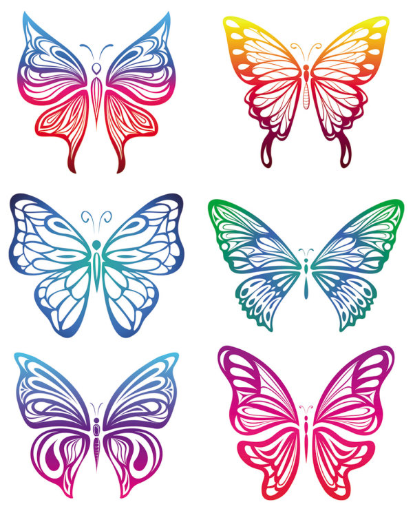 600x742 Butterfly Vector Ribbon Cutting Download Free Vectors Graphic
