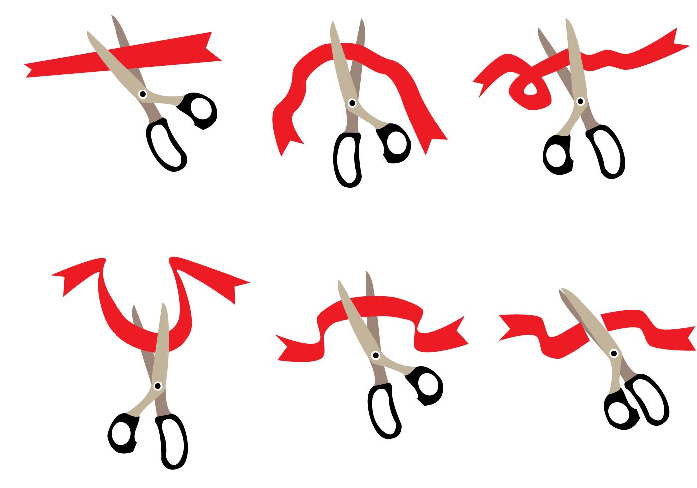1400x980 Ribbons Cutting Vector