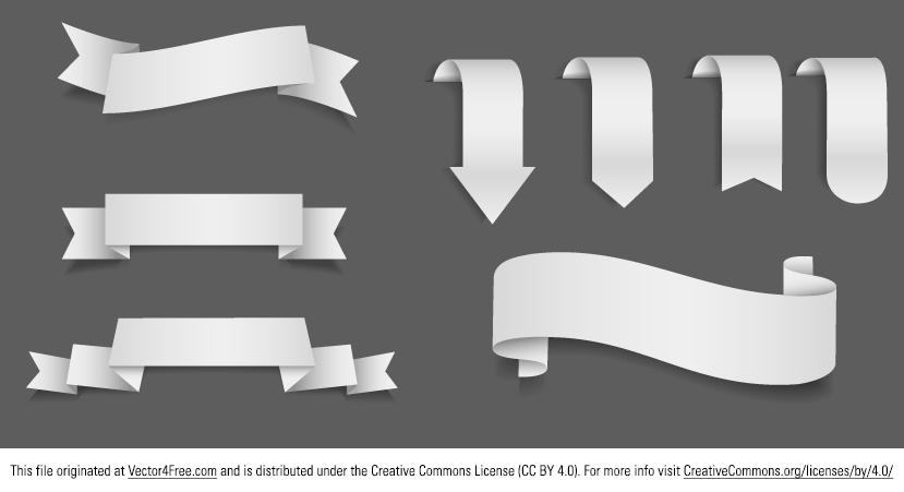 829x451 Free Vector Ribbons
