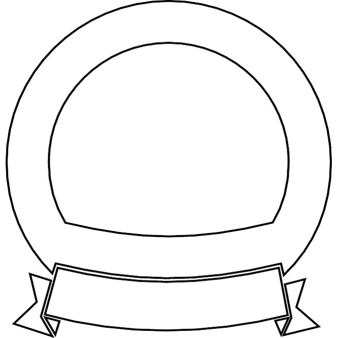 660x660 Outline Vector Ribbon And Shield