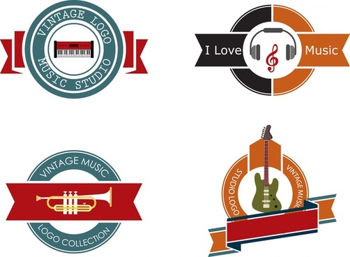 502x368 Round Ribbon Logo Free Vector Download (75,535 Free Vector) For