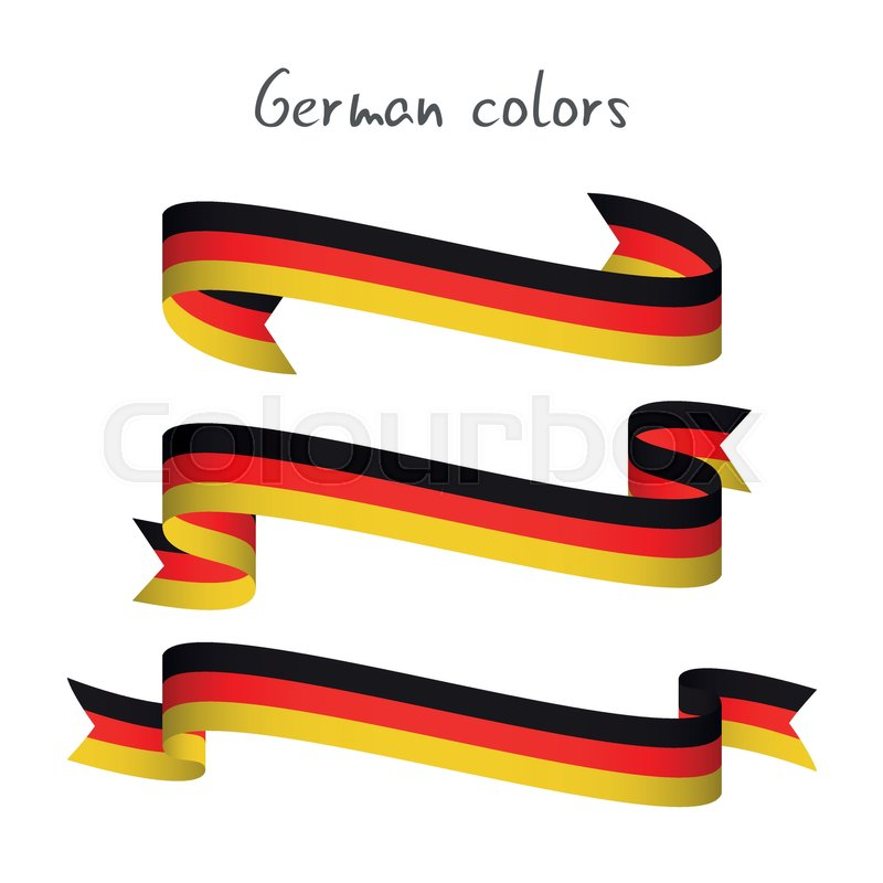 800x800 Set Of Three Modern Colored Vector Ribbon With The German Tricolor