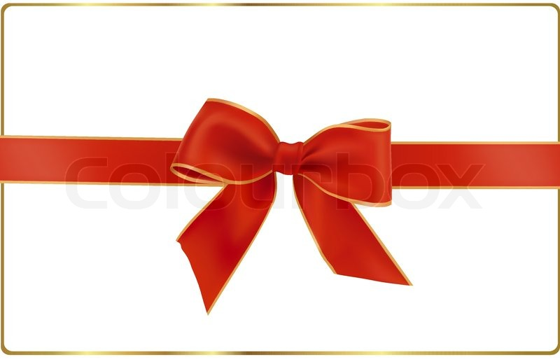 800x520 Gift Red Bow With A Ribbon. Vector. Stock Vector Colourbox