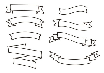 352x247 Set Of Vector Ribbon Banners. Free Vector Download 131174 Cannypic