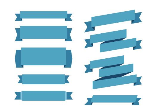 530x356 40 Free Vector Ribbons Design