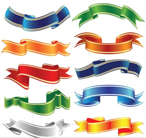 507x477 Color Luxury Ribbons Vector Ai Format Free Vector Download