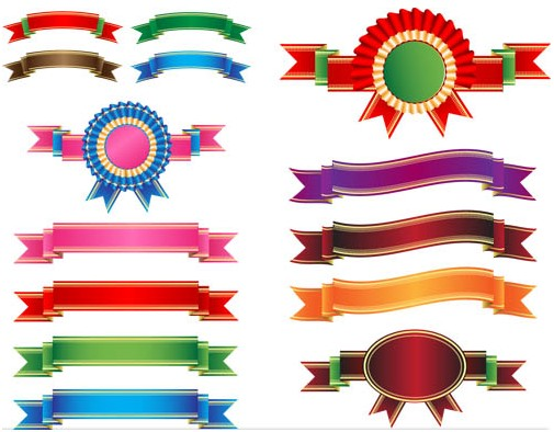 505x394 Colorful Ribbons Vector Ai Format Free Vector Download