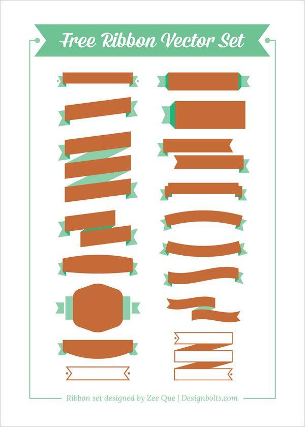 600x840 Free Ribbon Vector Set (Ai, Eps Amp Cdr) Designspiration