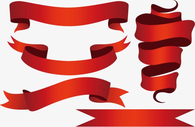 650x425 Beautiful Red Ribbon Vector, Ribbon Vector, Red Ribbon Vector
