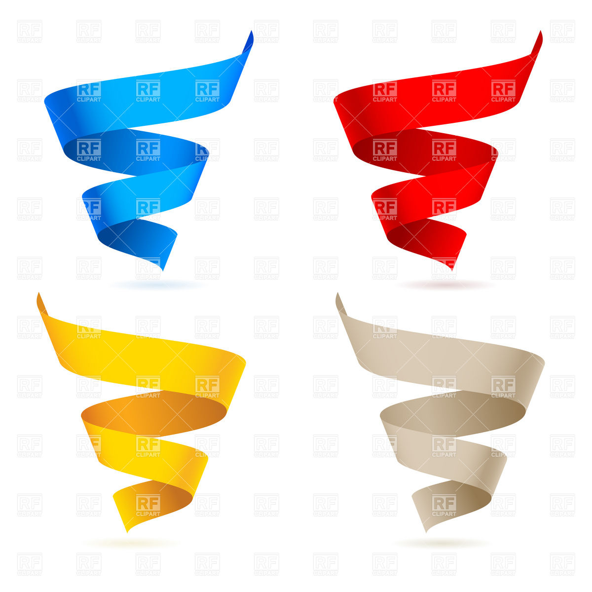 1200x1200 Colored Paper Streamer Ribbons Vector Image Vector Artwork Of