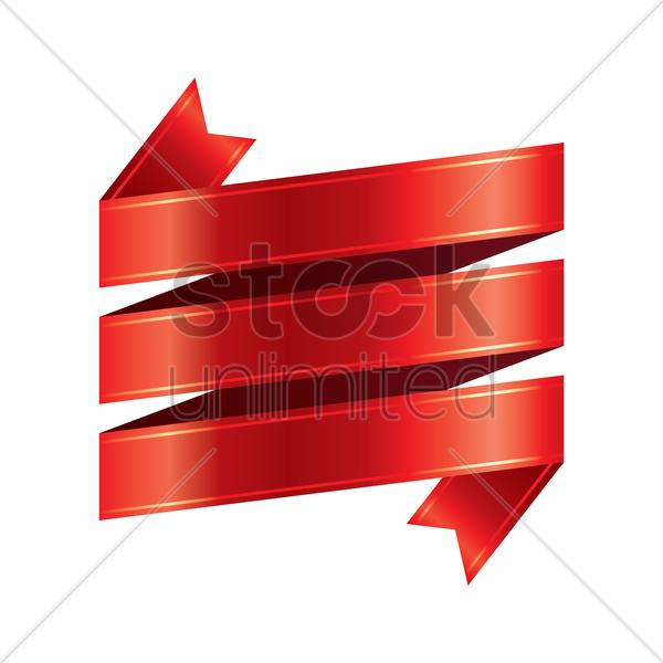 600x600 Free Ribbon Vector Image