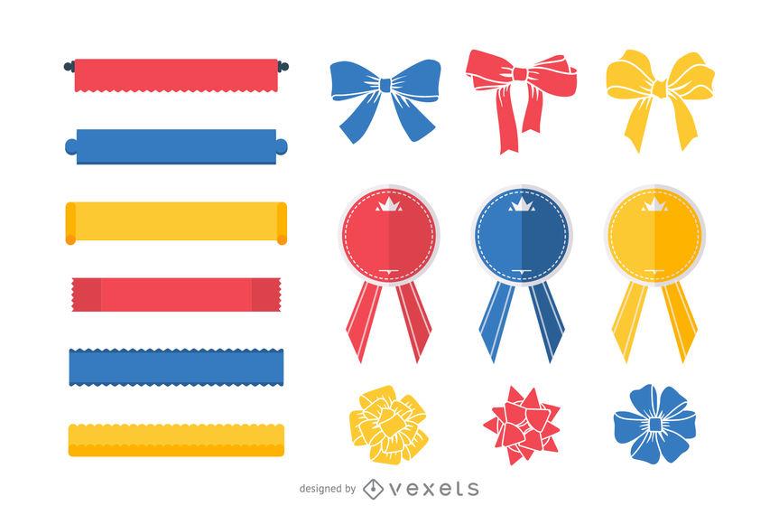 863x570 15 Free Vector Ribbons