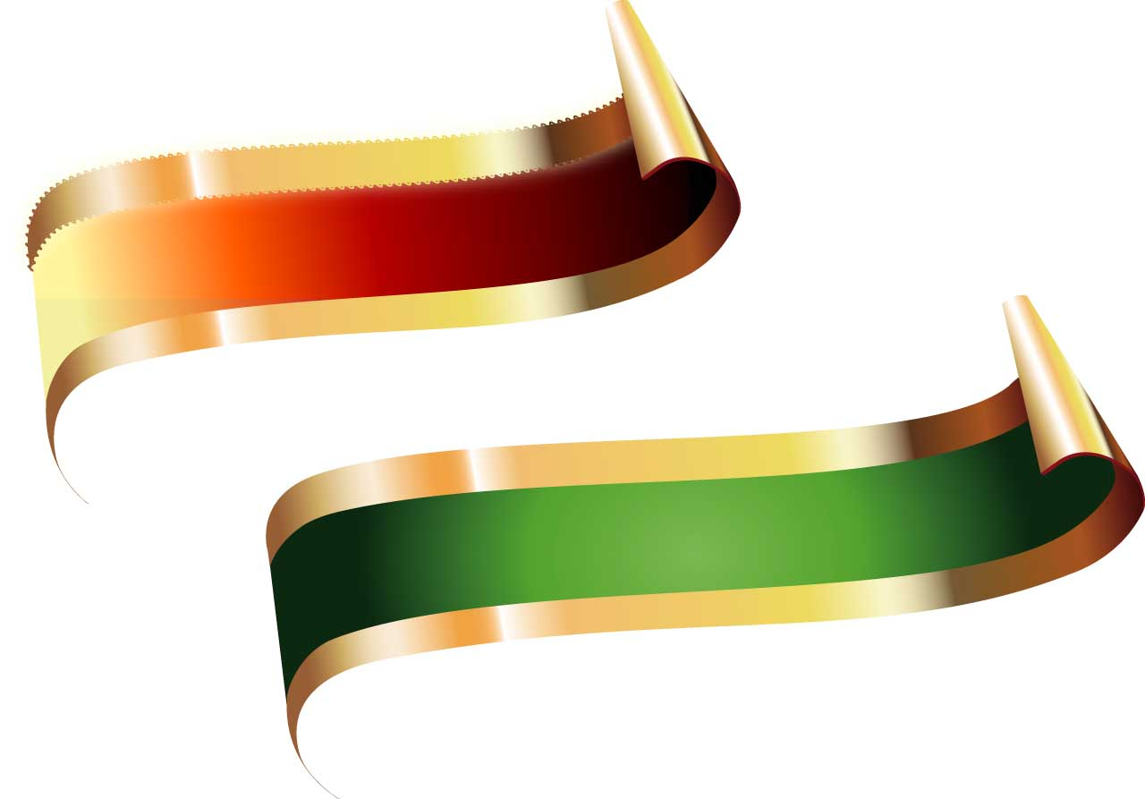 1280x893 Red And Green Title Vector Ribbons Free Download