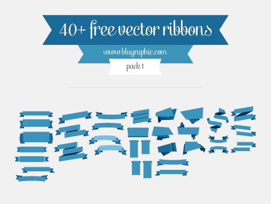 530x400 Ribbon Psd Vector Files Psddude
