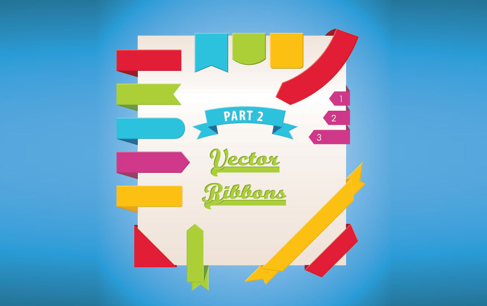 954x600 Best Free Ribbons Psd Amp Vector Files Download
