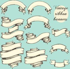 236x232 Vintage Ribbons Vector Free Graphics Fancy Letters