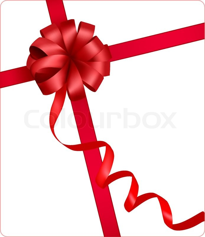694x800 Holiday Red Bow With A Ribbon. Vector. Stock Vector Colourbox
