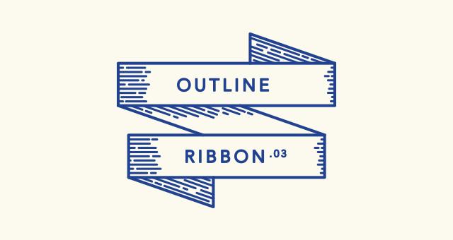 640x340 Retro Outline Ribbon Vector Set Decorative Vectors Pixeden