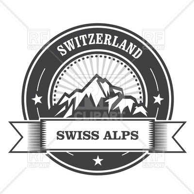 400x400 Alps Mountains Stamp