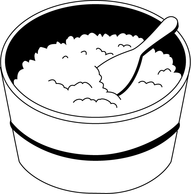 622x633 Rice Bowl Clipart