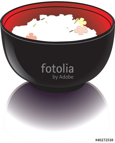 403x500 Black Bowl With Rice Stock Image And Royalty Free Vector Files On