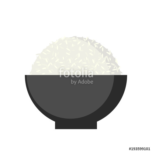 500x500 Rice In Bowl, Vector. Stock Image And Royalty Free Vector Files