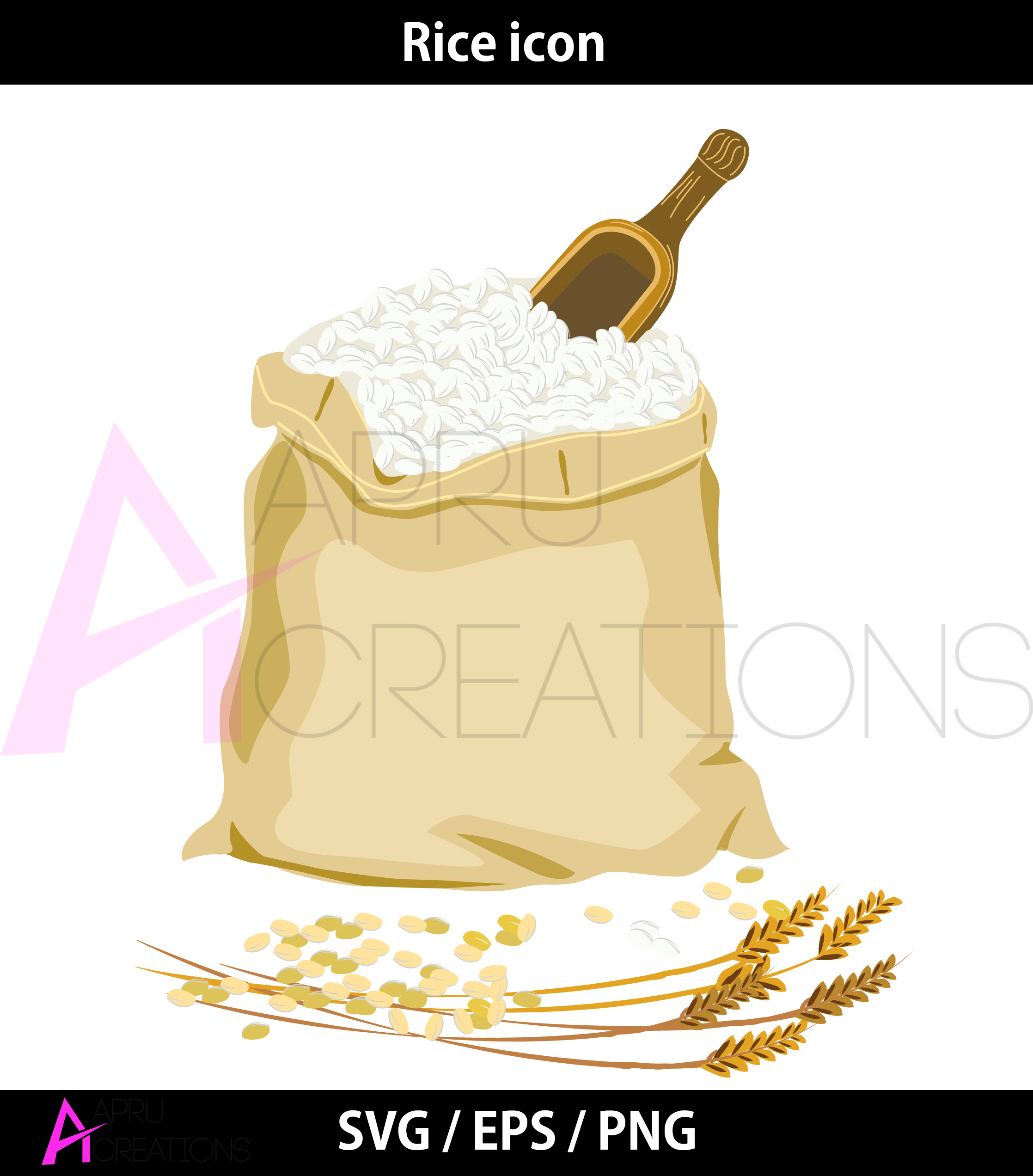 2235x2544 Web Icon Svg Vector Rice And Wheat Vector Icon, Commerical Use
