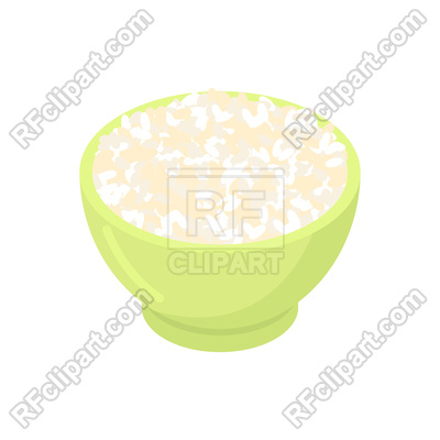 400x400 Bowl Of Round Rice Vector Image Vector Artwork Of Food And