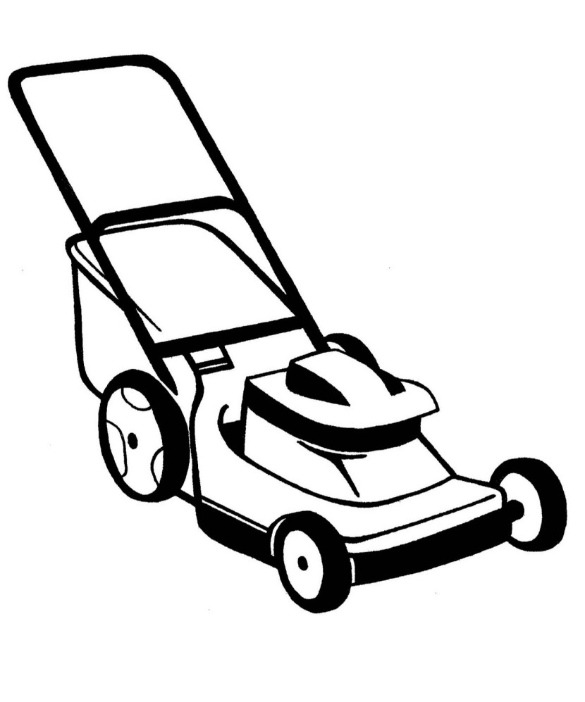 830x997 Images Of Lawn Mower Vector