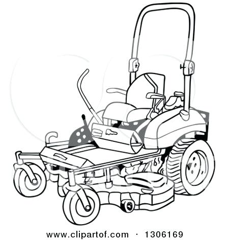 450x470 Lawn Mower Coloring