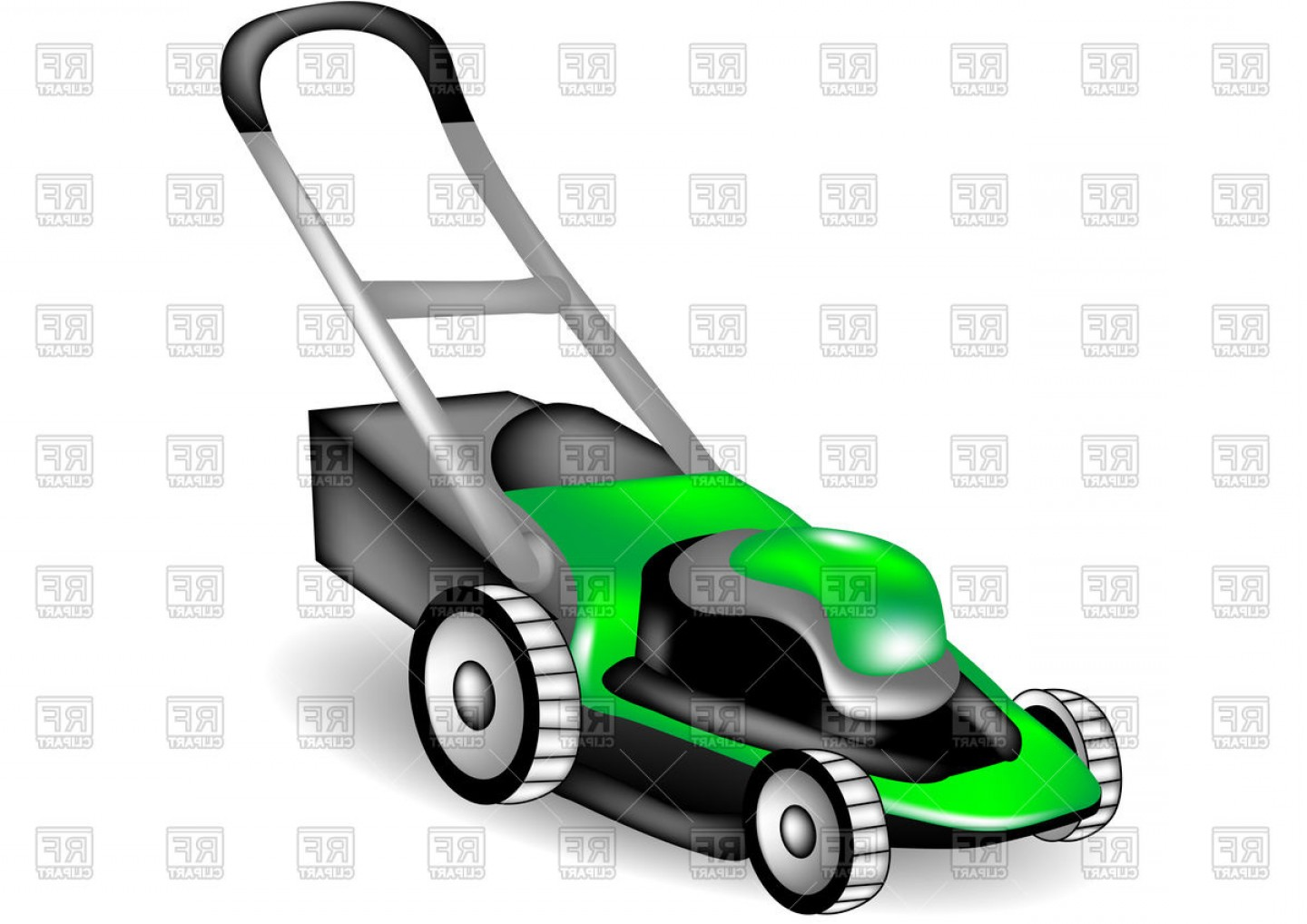 1440x1018 Lawn Mower On White Background Vector Clipart Lazttweet