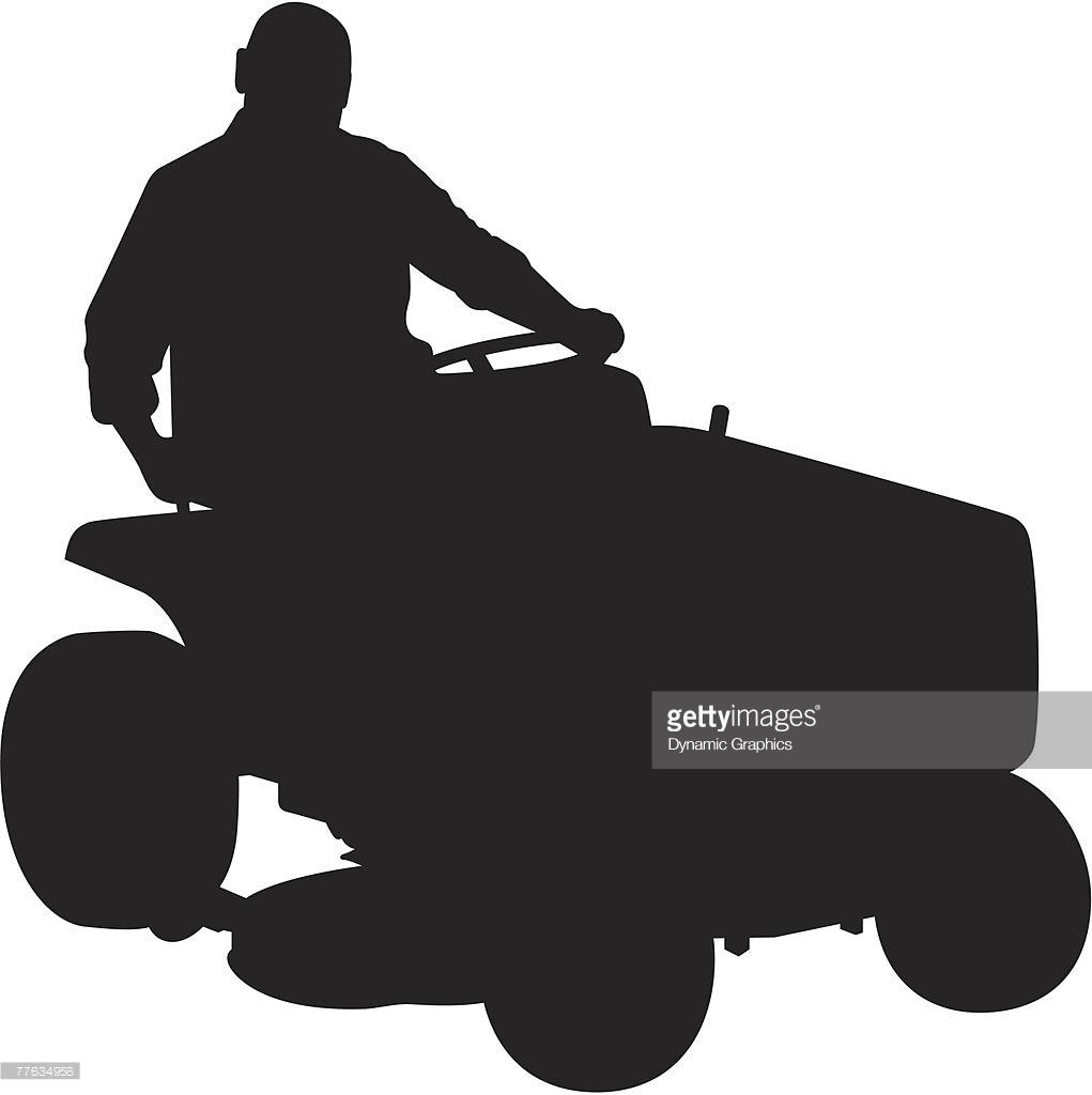 1021x1024 Lawn Mower Silhouette