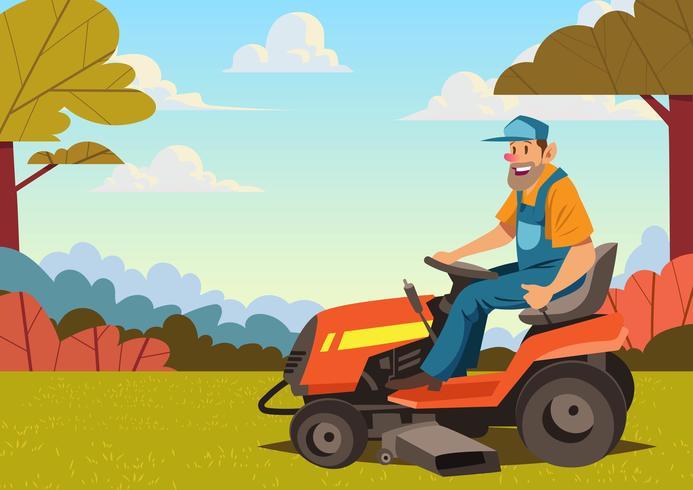 693x490 Man Riding Lawn Mower
