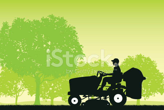 659x440 Riding Lawn Mower Background Stock Vector