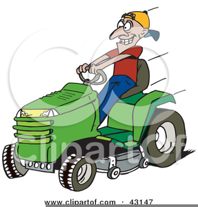 287x300 Riding Lawn Mower Clipart Free Free Images