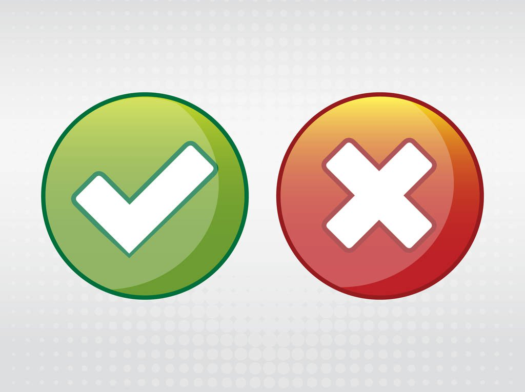 1024x765 Right And Wrong Icons Vector Art Amp Graphics