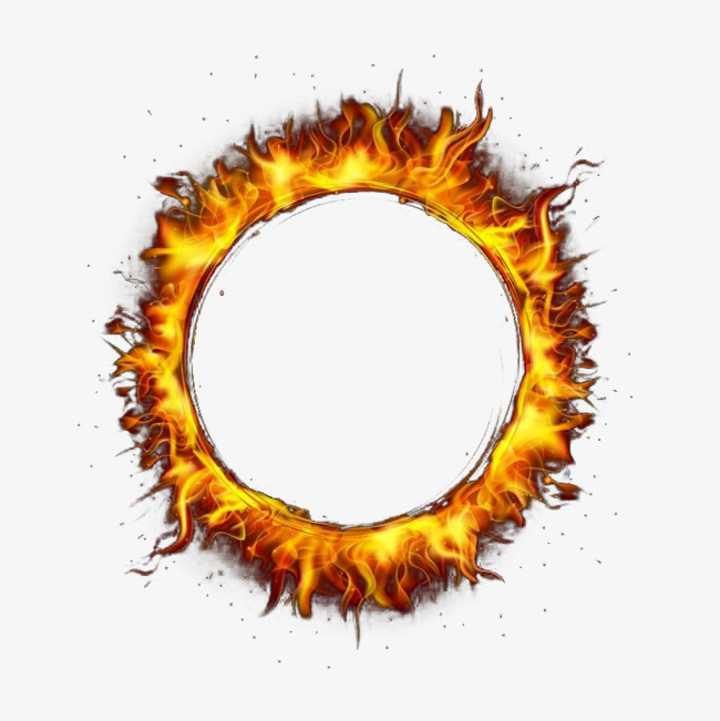 650x651 Round Ring Of Fire, Round, Flame, Vector Png And Vector For Free