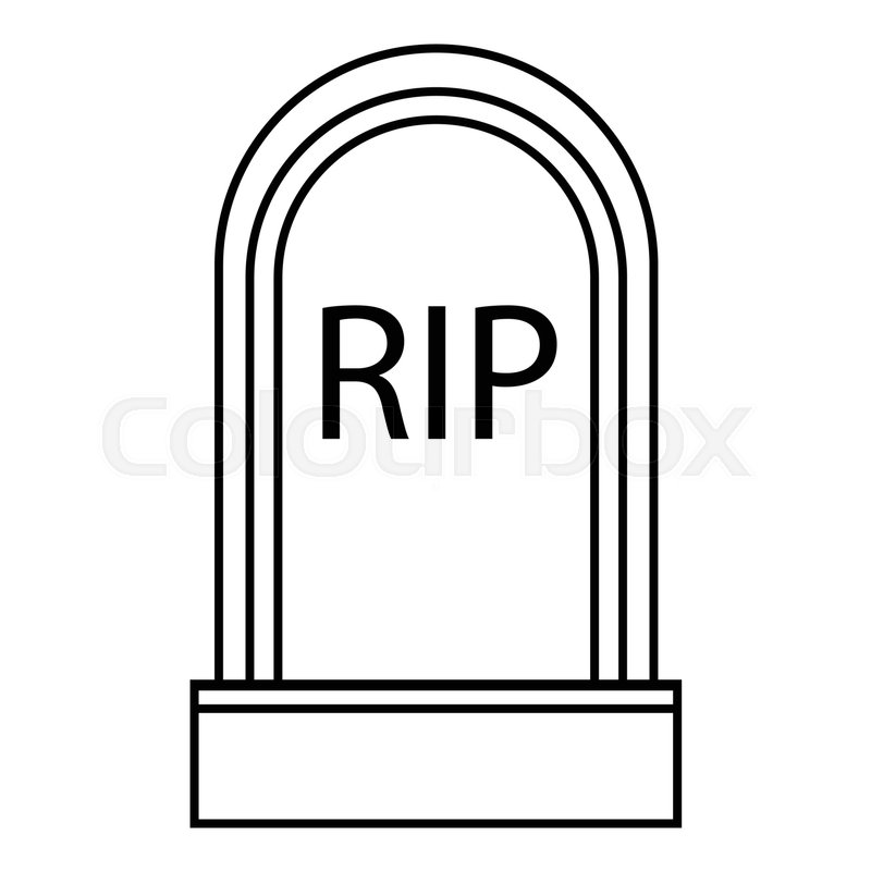 800x800 Grave Rip Icon. Outline Illustration Of Grave Rip Vector Icon For