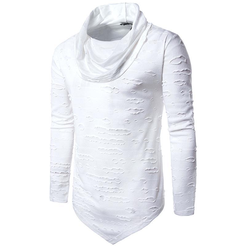 800x800 Ripped T Shirt Hip Hop Casual Long Sleeve T Shirt Ripped T Shirt