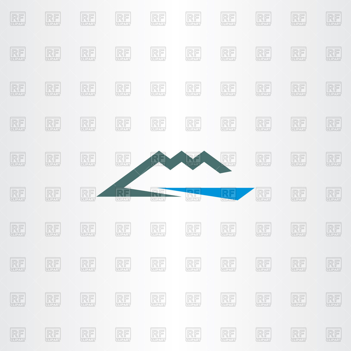 1200x1200 River And Mountain Icon Vector Image Vector Artwork Of Signs