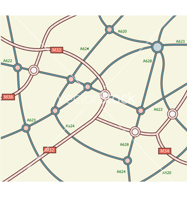 Road Map Vector