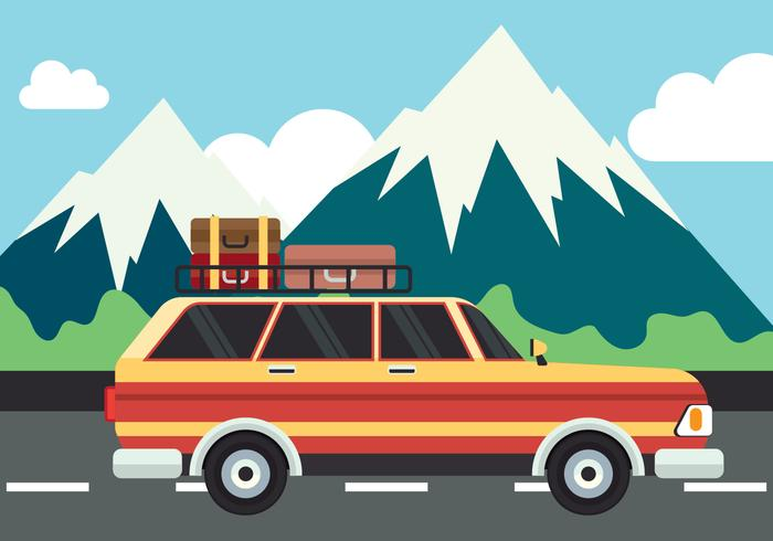 700x490 Road Trip Vector Illustration