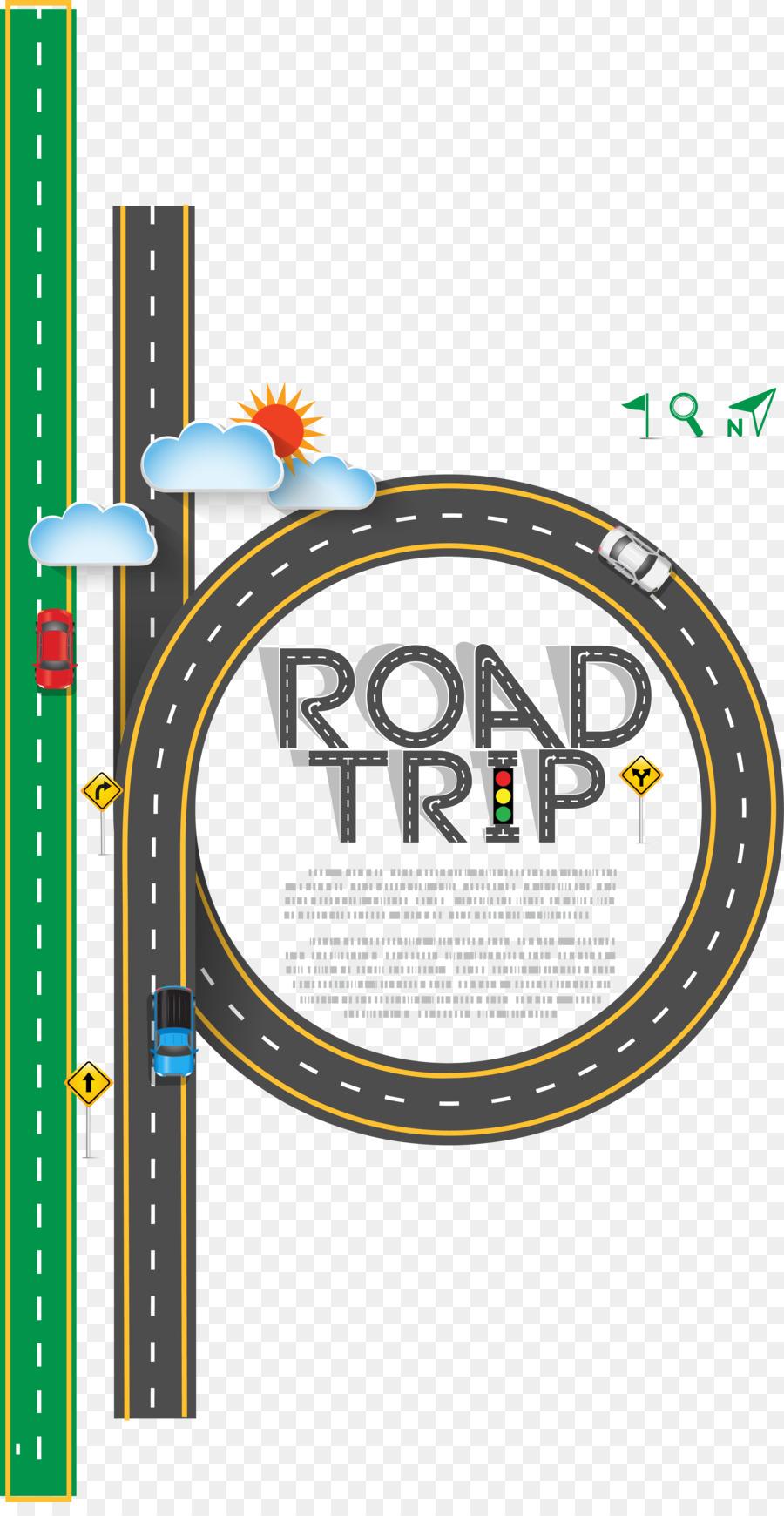 900x1740 Road Trip Euclidean Vector Clip Art