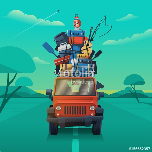 500x500 Road Trip Vector Illustration Stock Image And Royalty Free Vector