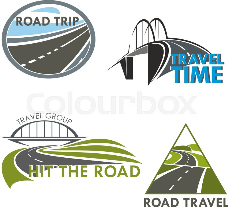 800x726 Travel Time And Road Trip Vector Icons Of Highway, Motorway Lane