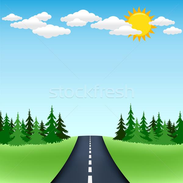 600x600 Horizon Road Trip Vector Illustration Volodymyr Romanovskyy