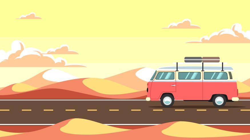 875x490 Desert Road Trip Vector